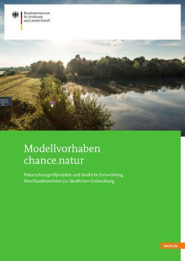 """Cover der Broschüre """"Modellvorhaben chance.natur"""""""
