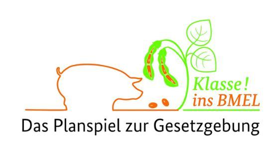 """Logo des BMEL-Planspiels """"Klasse ins BMEL"""""""