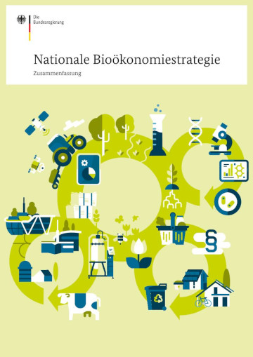 "Cover der Broschüre ""Nationale Bioökonomiestrategie"""