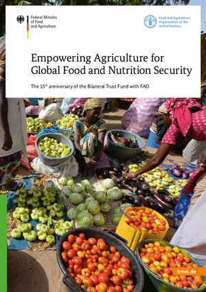 Cover Brochure Empowering Agriculture for Global Food and Nutrition Security - The 15th anniversary of the Bilateral Trust Fund with FAO.