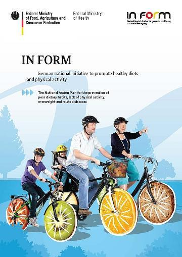 Cover Brochure 'IN FORM - German national initiative to promote healthy diets and physical activity'