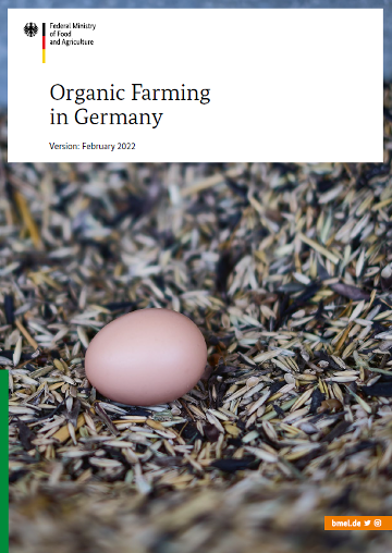 Cover of the brochure Organic Farming in Germany