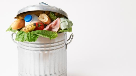 Food in a bin